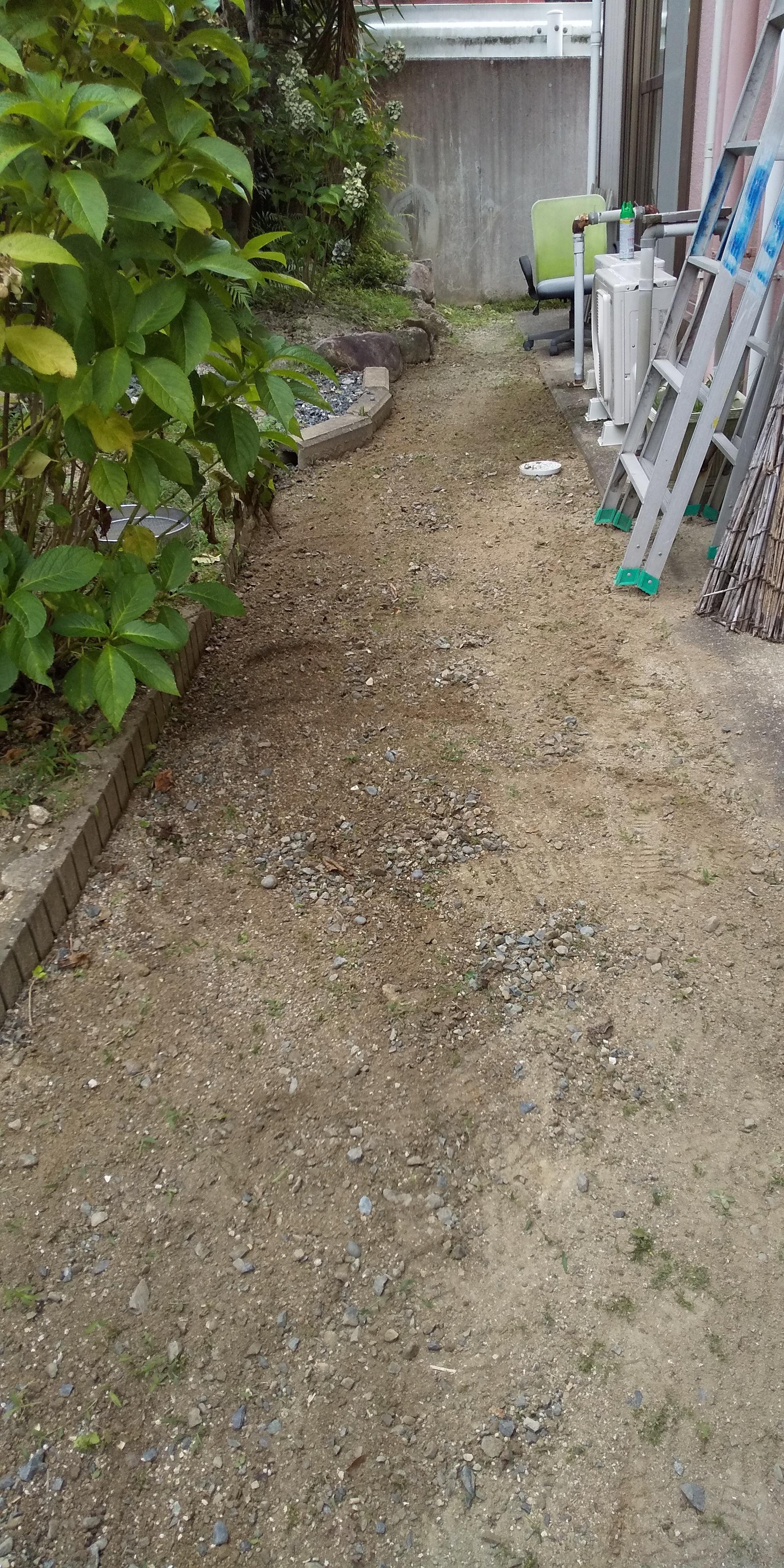 裏庭草取りafter