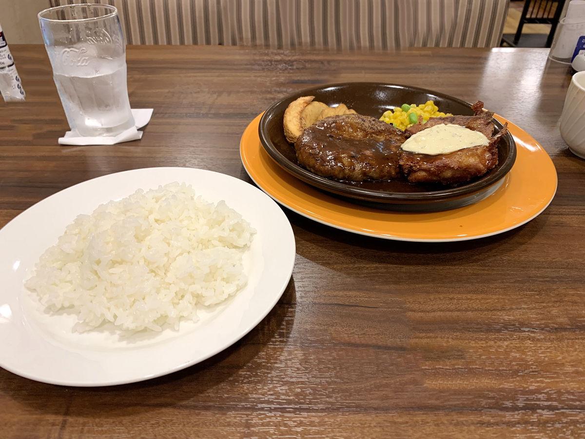空梅雨の気配のチキン南蛮とハンバーグ定食 by天空オフィシャルブログ所蔵画像