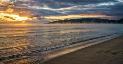 大岐の浜から2021年・初日の出