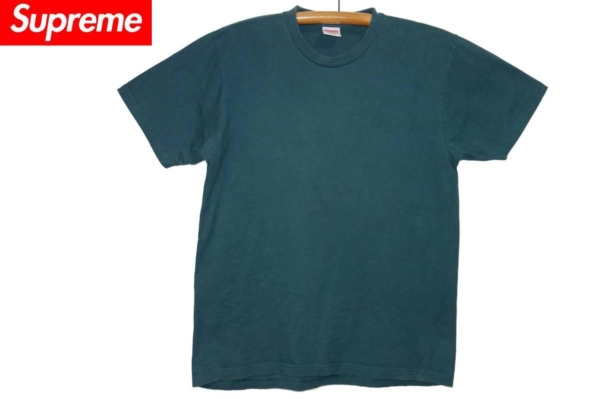お買取商品シュプリームSupreme Tシャツ USA製青緑無地