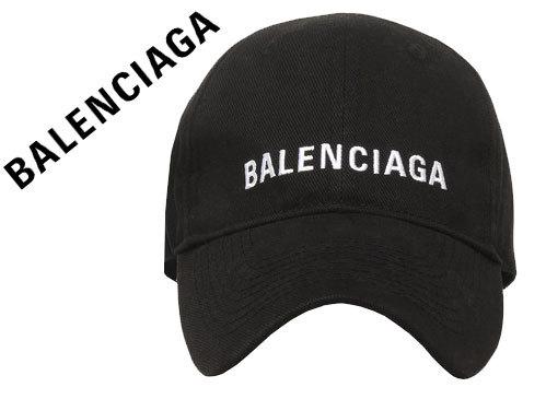 お買取り商品balenciagaバレンシアガベースボールキャップ黒×白ロゴ
