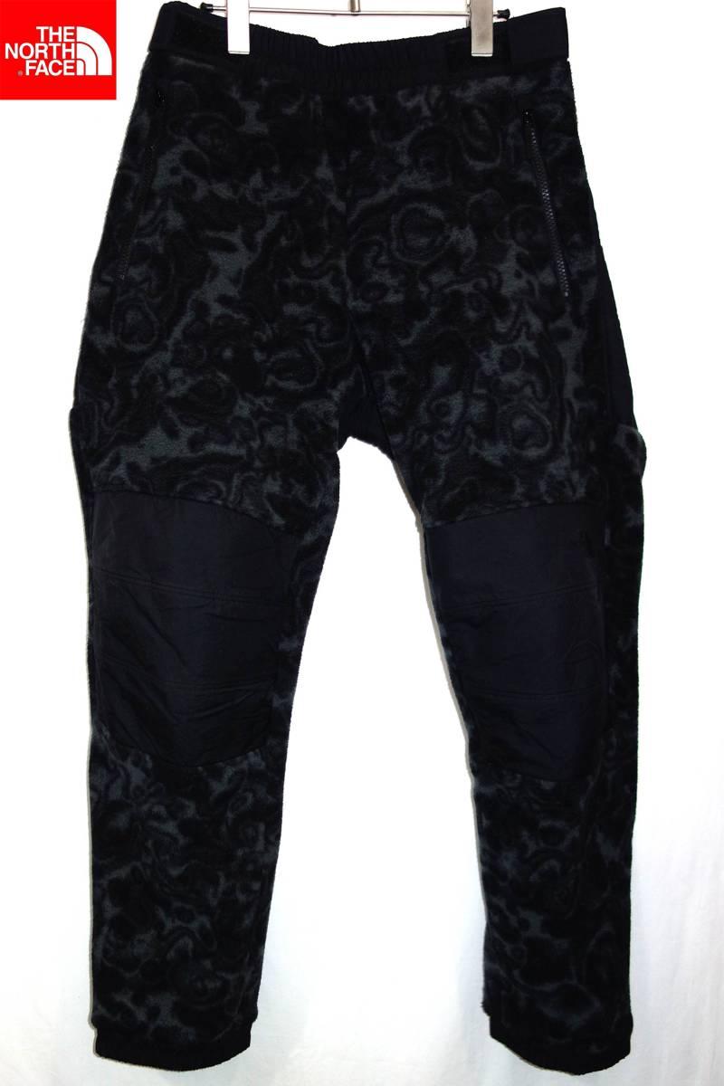 お買取り商品ノースフェイスTHENORTHFACE美品レイジクラシックフリースパンツL黒グレーカモNB81961 RAGE CLASSIC FLEECE PANTS