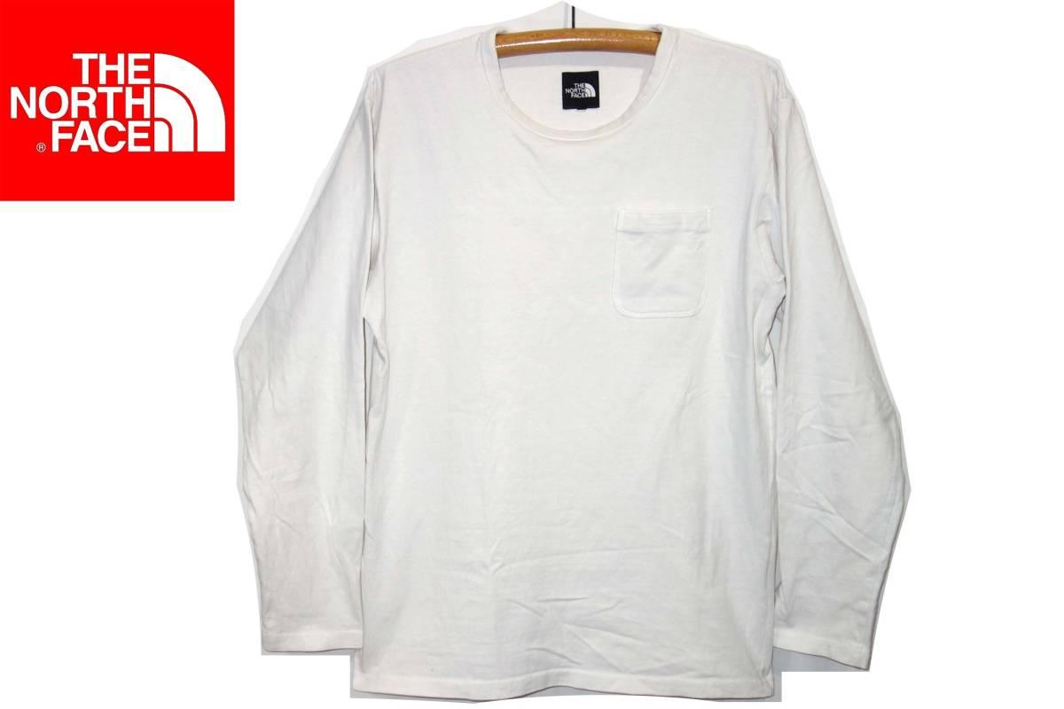 お買取り商品ノースフェイスTHENORTHFACE胸ポケット長袖TシャツNT81732ロングスリーブ白XL