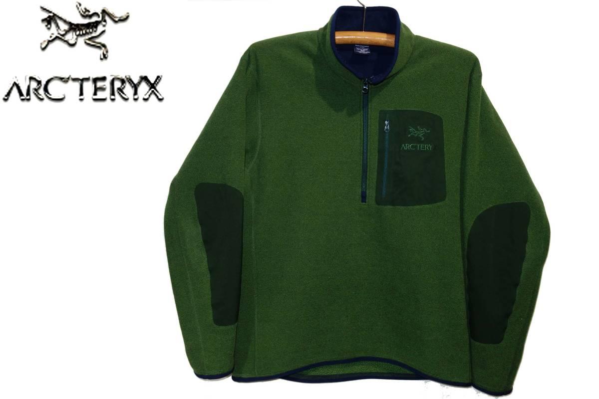 お買取り商品アークテリクスARC'TERYX美品ポーラーテックハーフジップフリースジャケットカナダ製M緑