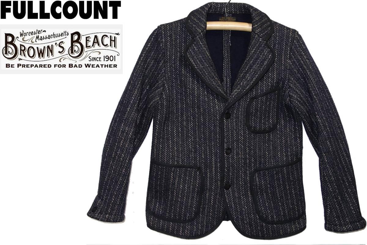 お買取り商品フルカウントFULLCOUNT×BROWN'S BEACH美品ビーチクロスジャケット38ブラウンズビーチ品番BBJ4-003