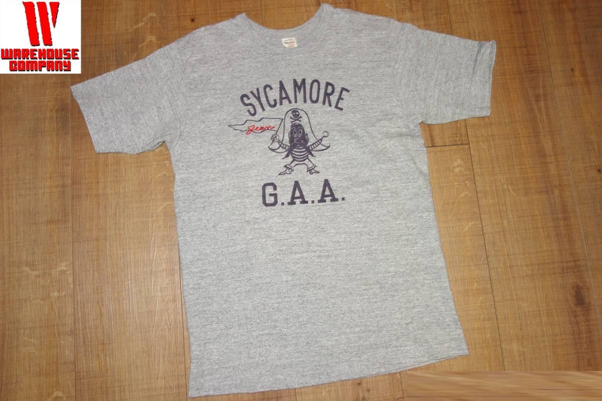 お買取商品ウエアハウスWAREHOUSETシャツSYCAMORE G.A.A.グレーM