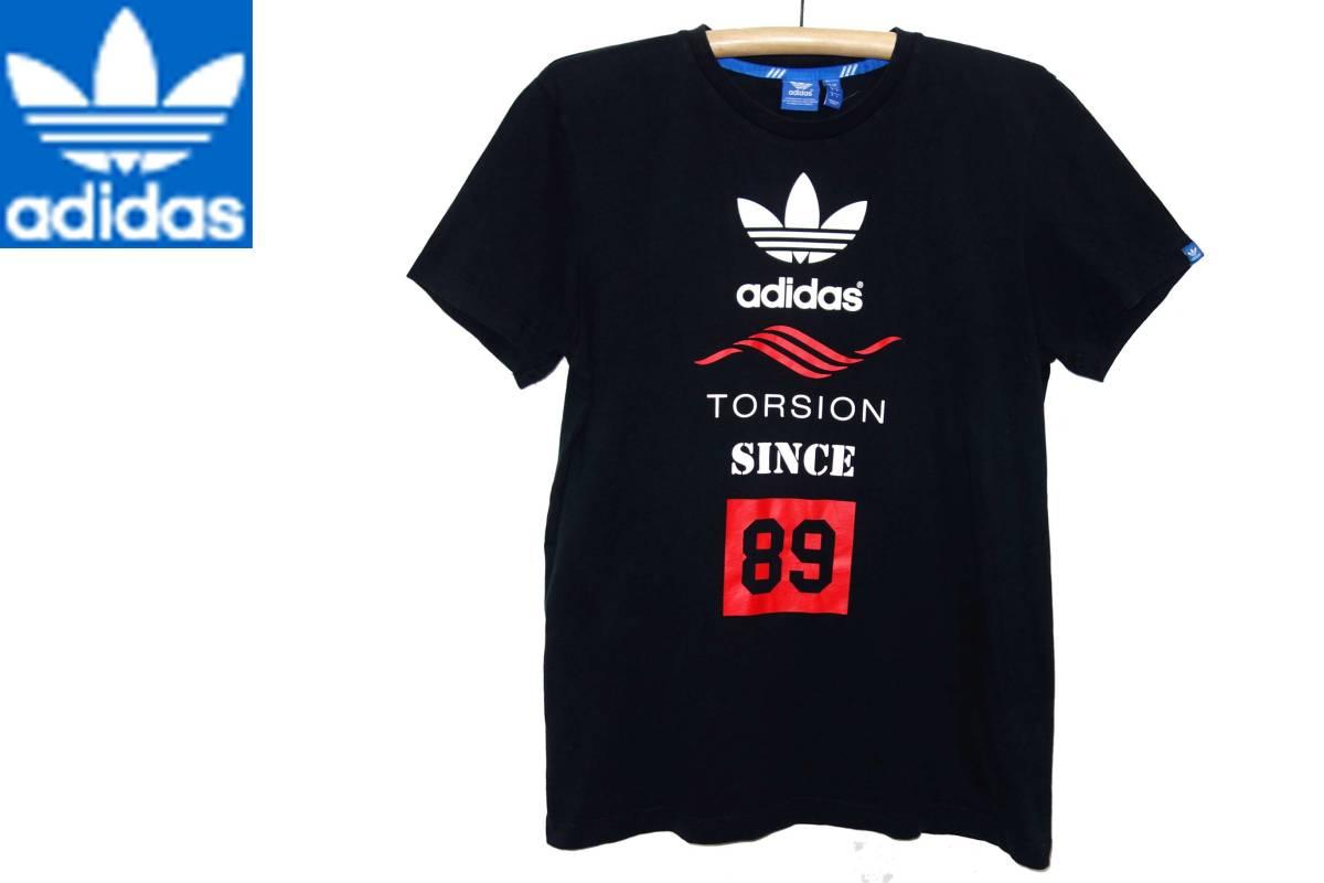 お買取商品アディダスADIDS美品アディダスオリジナルスTシャツTORSION黒赤O