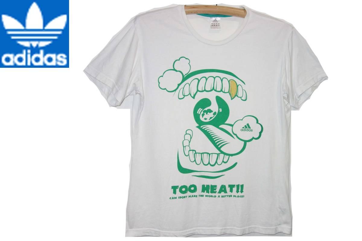 お買取商品アディダスADIDSTシャツ白緑XO TOOHEAT