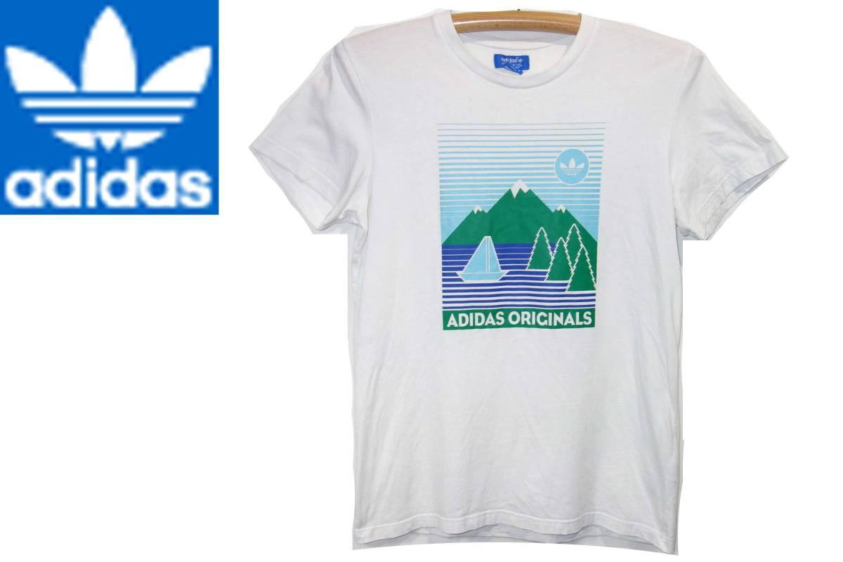 お買取商品アディダスADIDSオリジナルスTシャツ白緑O