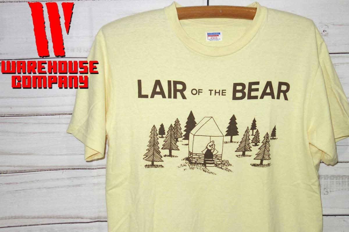 お買取商品ウエアハウスWAREHOUSEダブルワークスDUBBLEWORKSTシャツLAIR BEAR黄色M