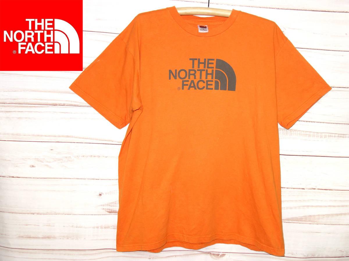 お買取り商品ノースフェイスTHENORTHFACE正規デカロゴTシャツオレンジL