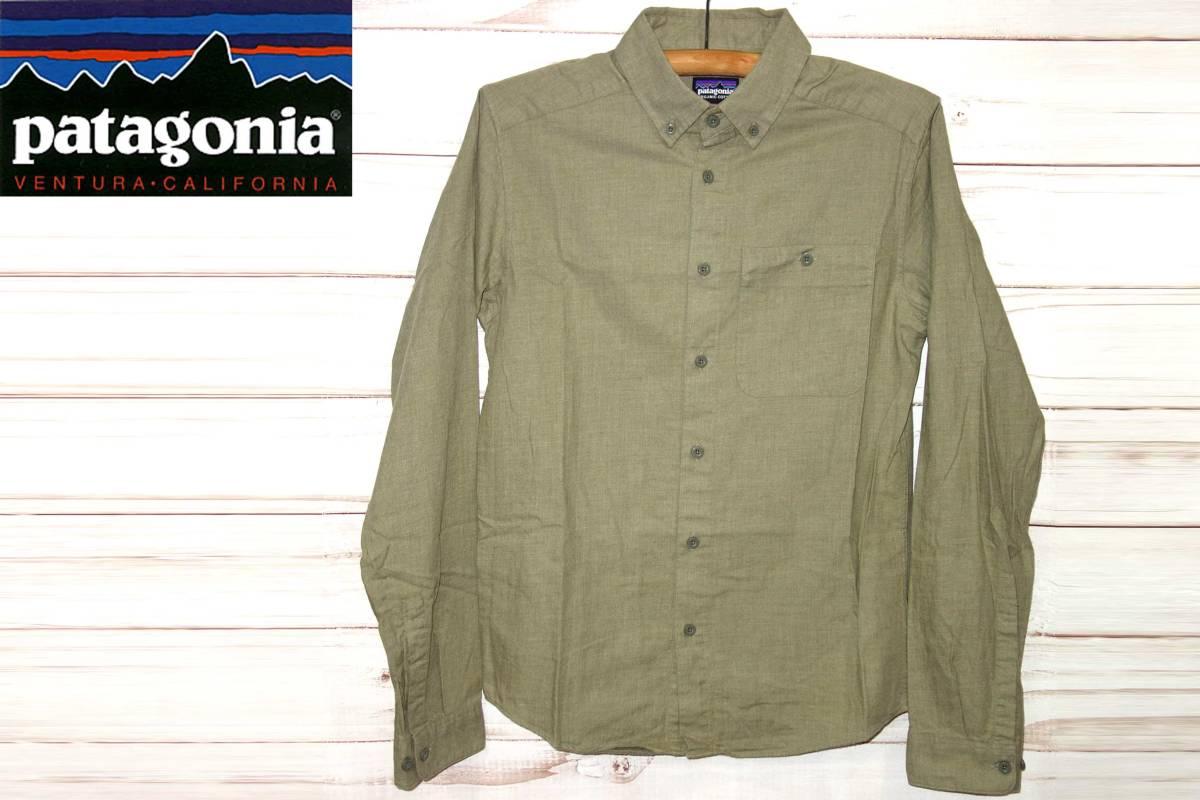 お買取商品パタゴニアPATAGONIA美品オーガニックコットンオールシーズン長袖シャツヴョサリバーピマコットンシャツXSカーキ53900Vjosa River Pima Cotton Shirt