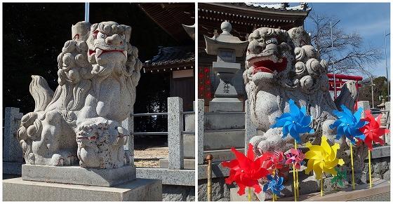 210225金井神社の狛犬
