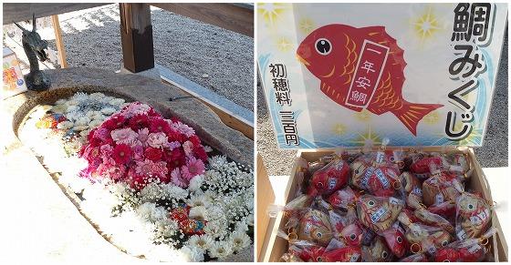 210225金井神社の手水鉢とおみくじ