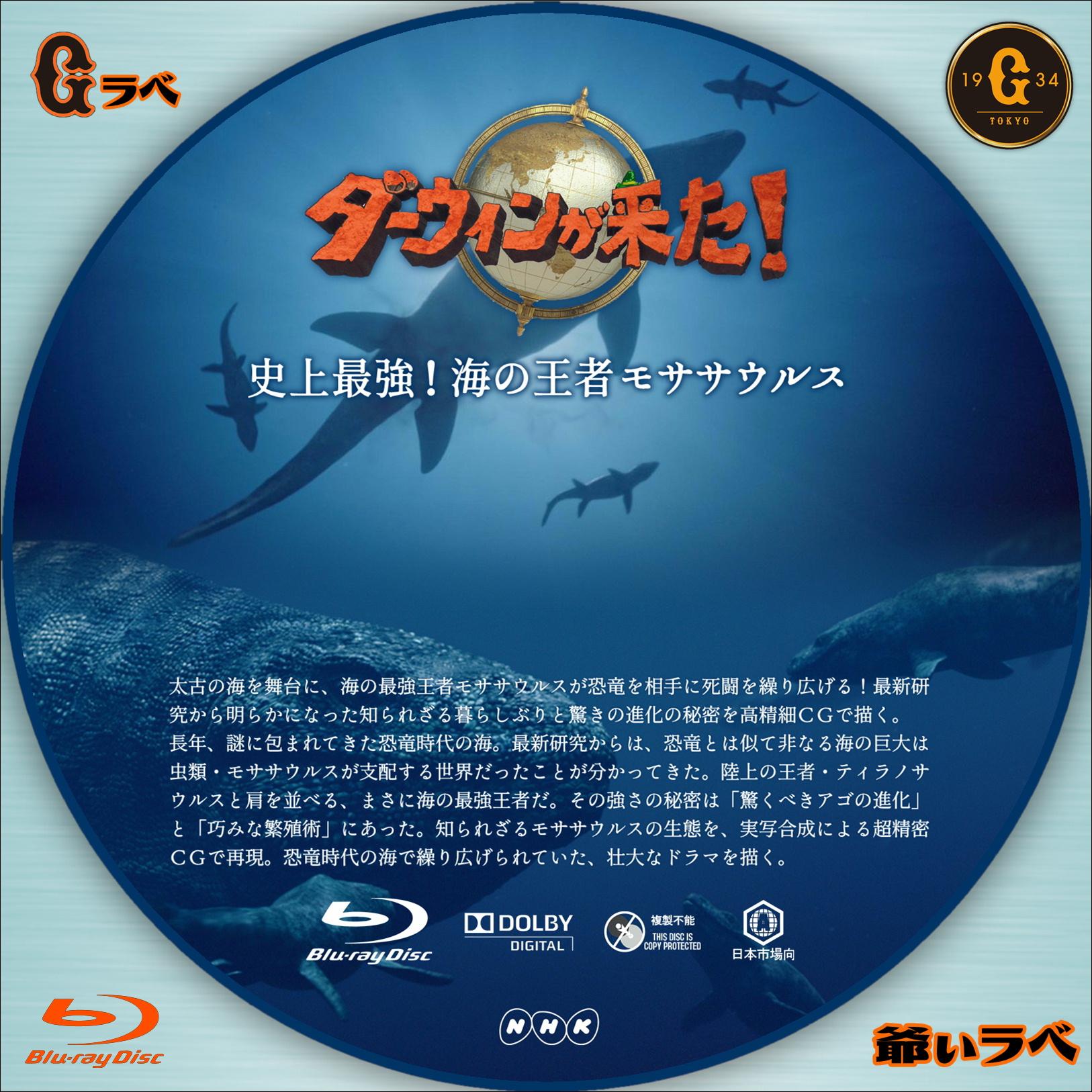 ダーウィンが来た!「史上最強!海の王者モササウルス」(Blu-ray)