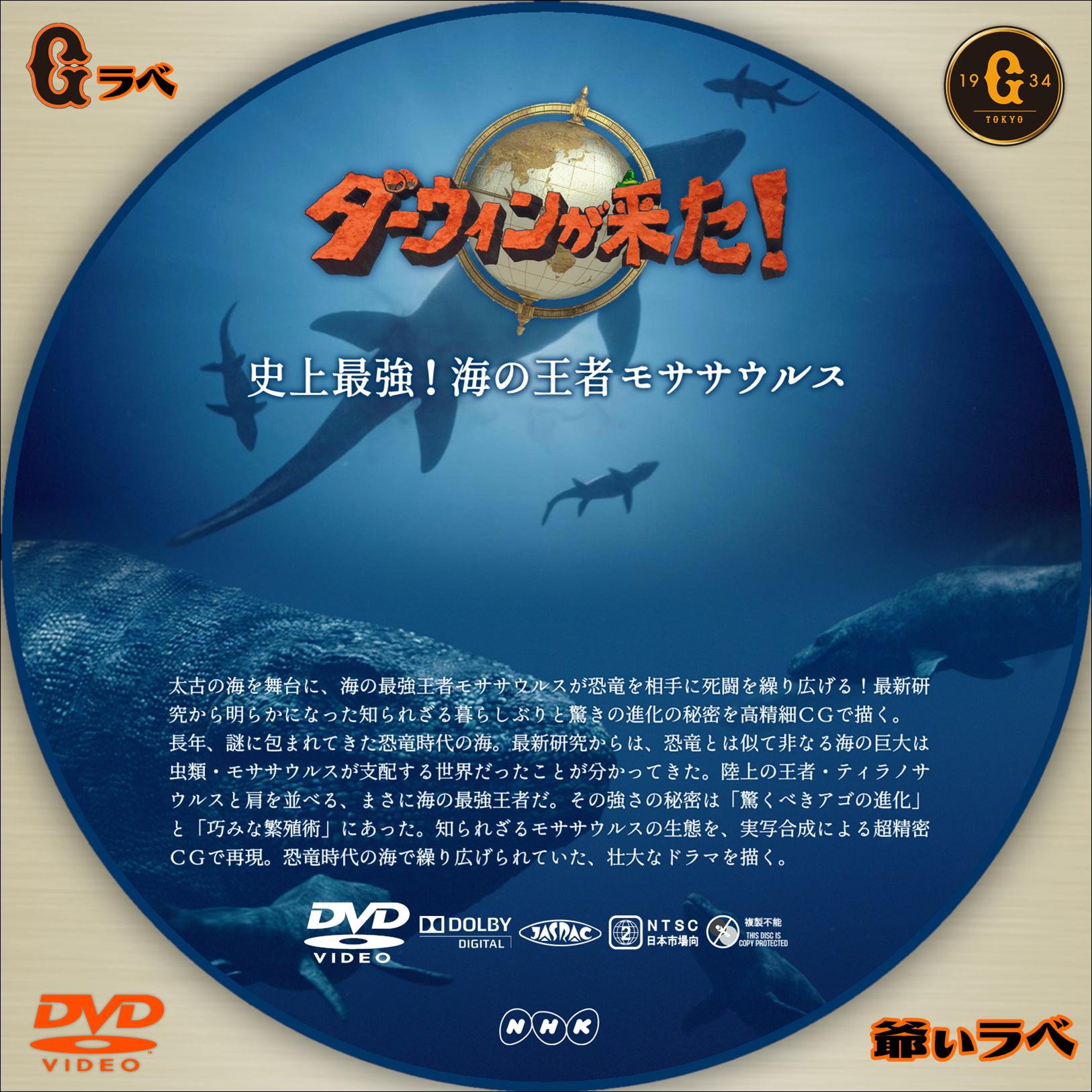 ダーウィンが来た!「史上最強!海の王者モササウルス」(DVD)
