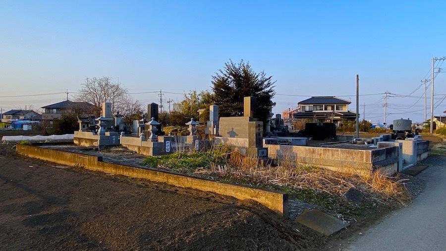 398 4181 大垣家の墓地内の塚