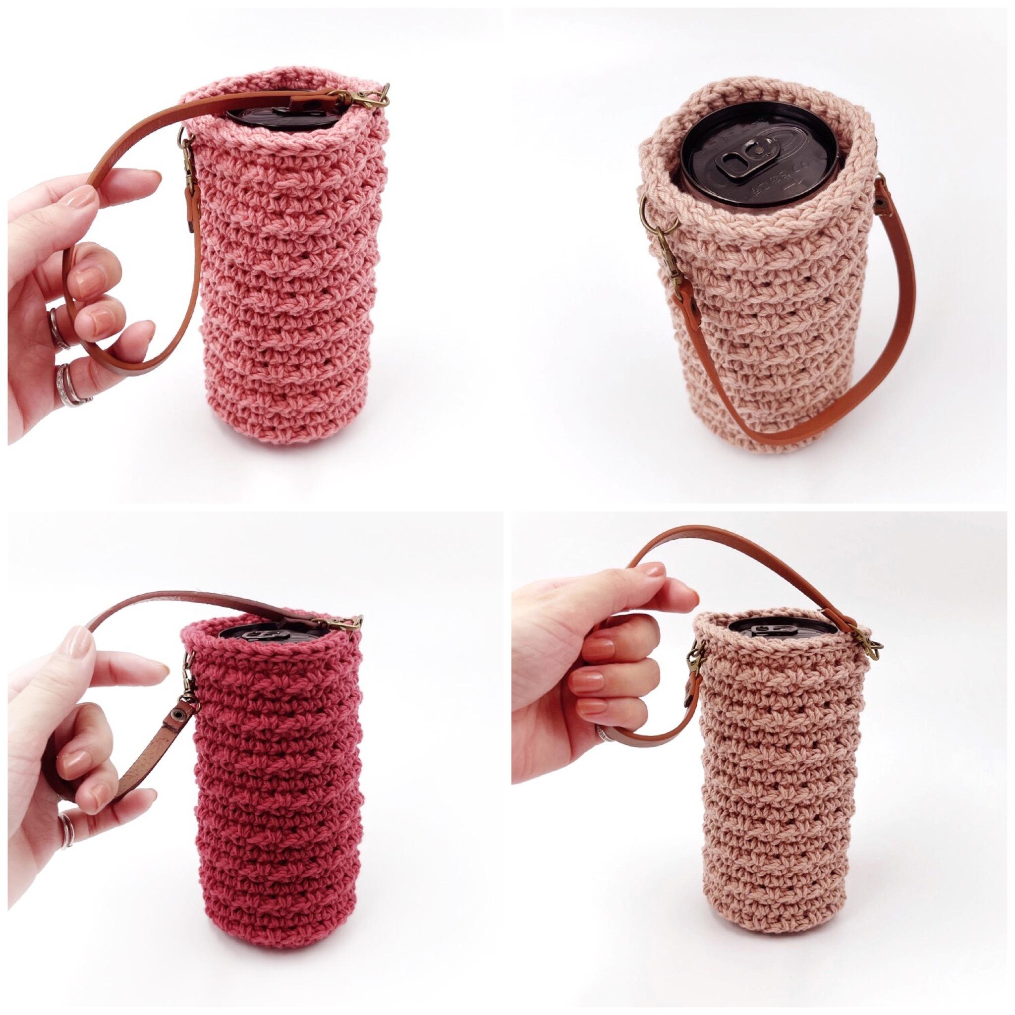 手編み雑貨 ボトルケース HanahanD コットンケース ペットボトルケース