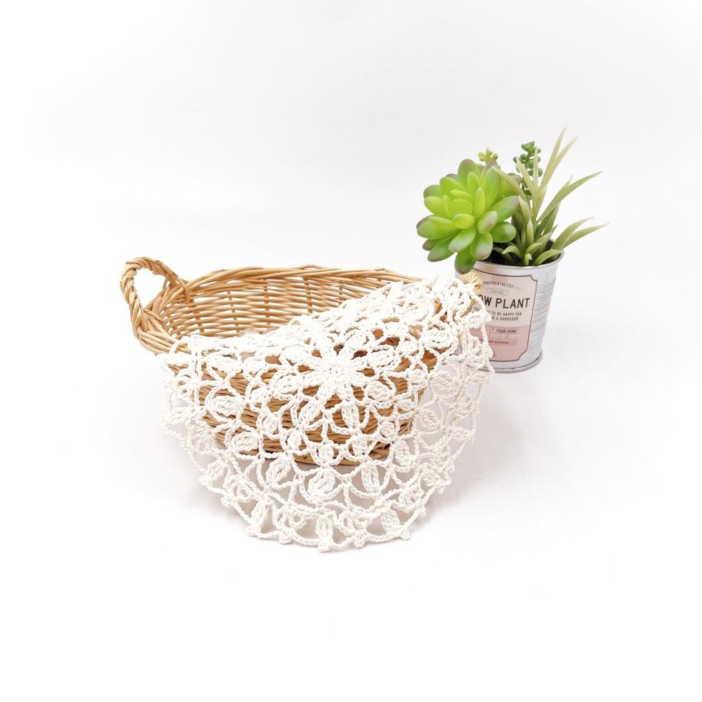 手編み雑貨 HanahanD レース ドイリー 敷物 ホワイト