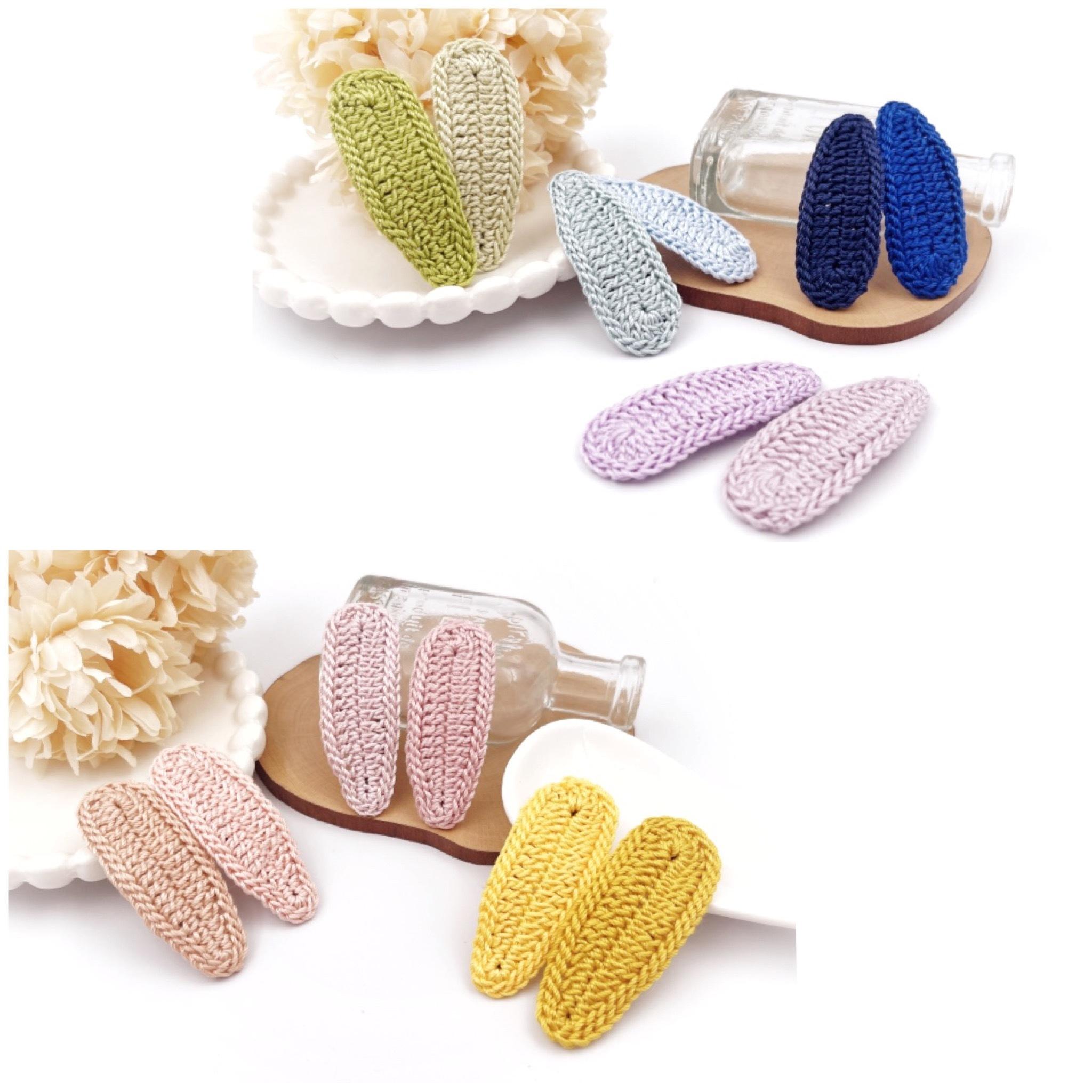 手編み雑貨 HanahanD パッチン ヘアアクセサリー ヘアピン パステル