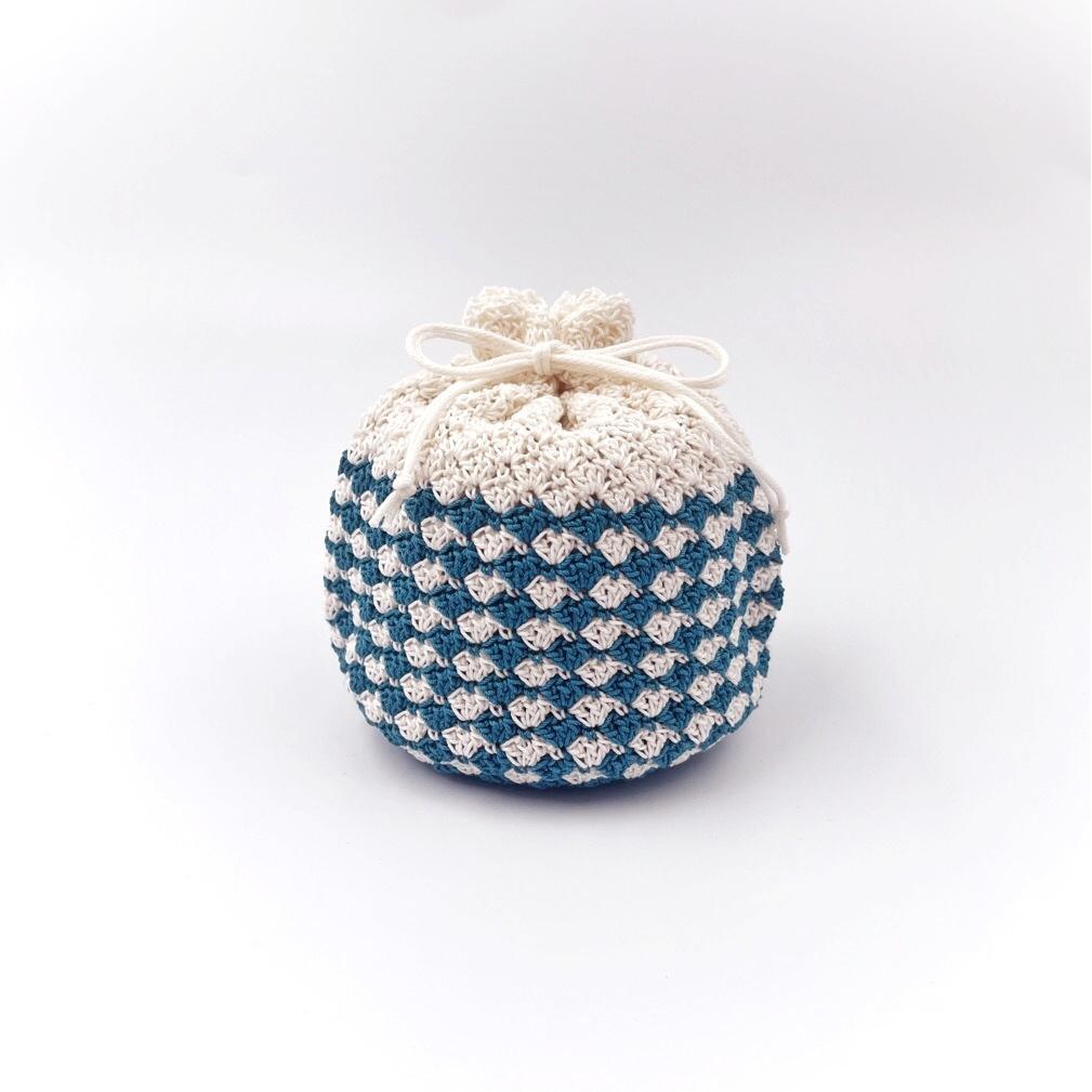 手編み雑貨 HanahanD 巾着 巾着袋 ハンドメイド レース編み
