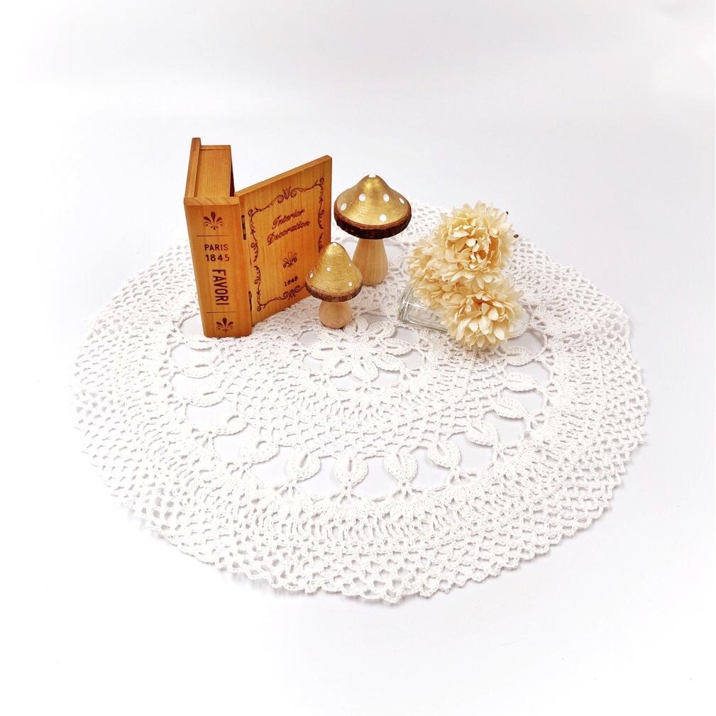手編み雑貨 HanahanD ドイリー 40cm レース編み レース 敷物