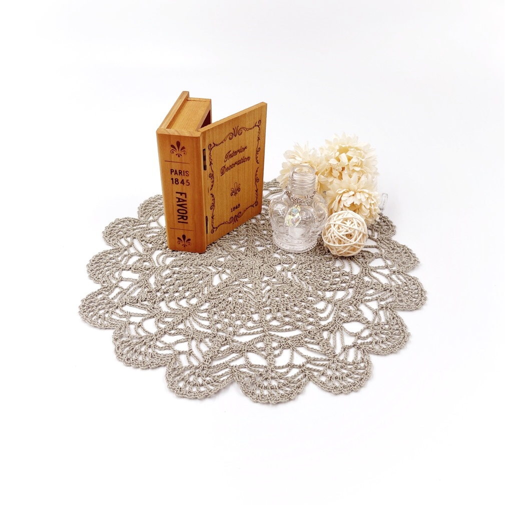 手編み雑貨 HanahanD レース編み ドイリー 敷物 レースドイリー