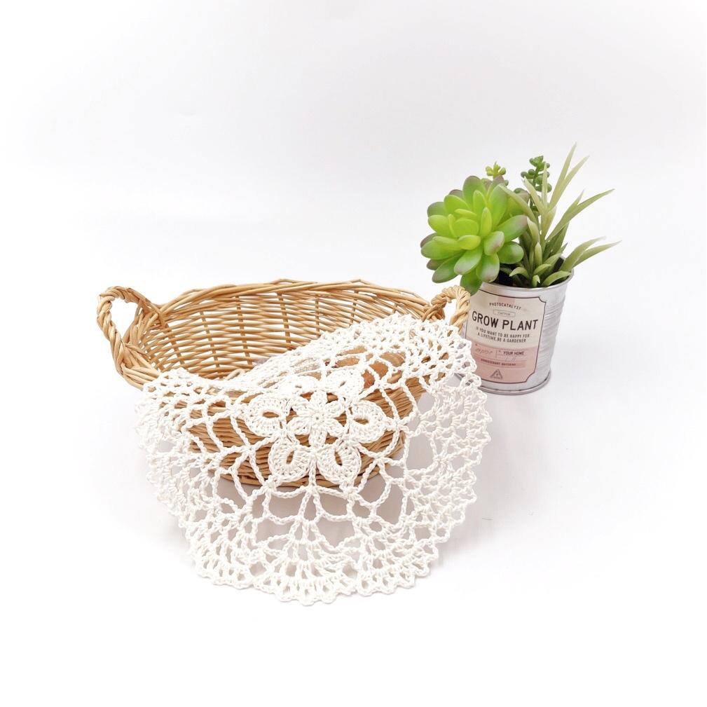 手編み雑貨 HanahanD レース ドイリー 敷物 手編み