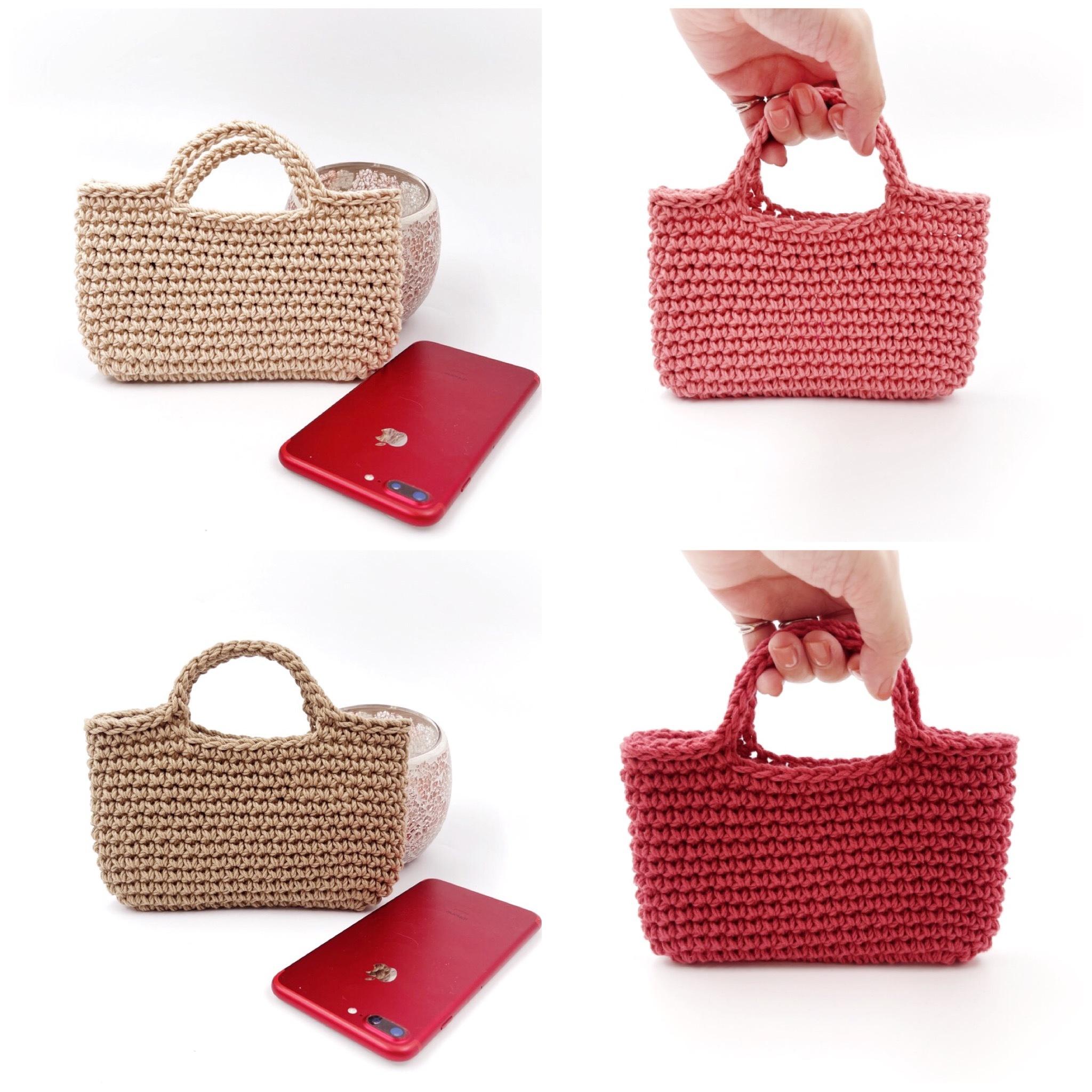 手編み雑貨 HanahanD スマホバッグ スマホポーチ コットンケース