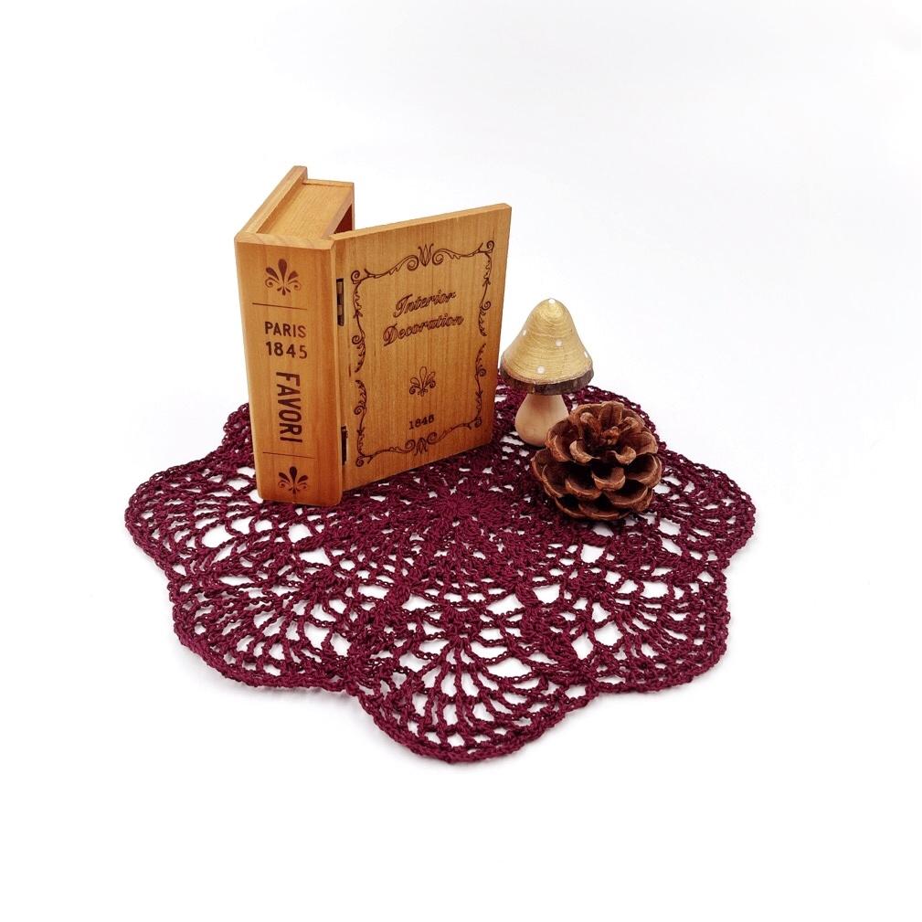 手編み雑貨 HanahanD レース 敷物 ドイリー ラグ マット