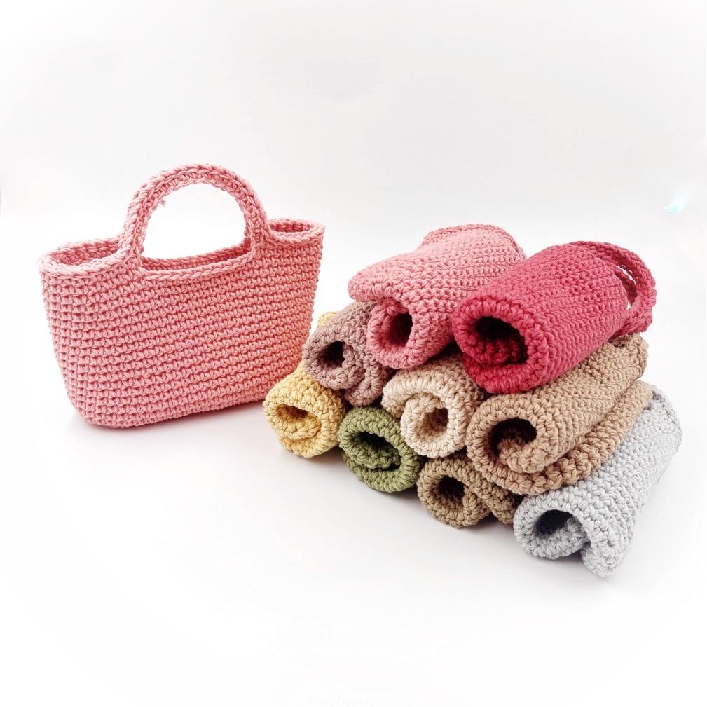 手編み雑貨 HanahanD はなはんど コットンバッグ 手編みバッグ