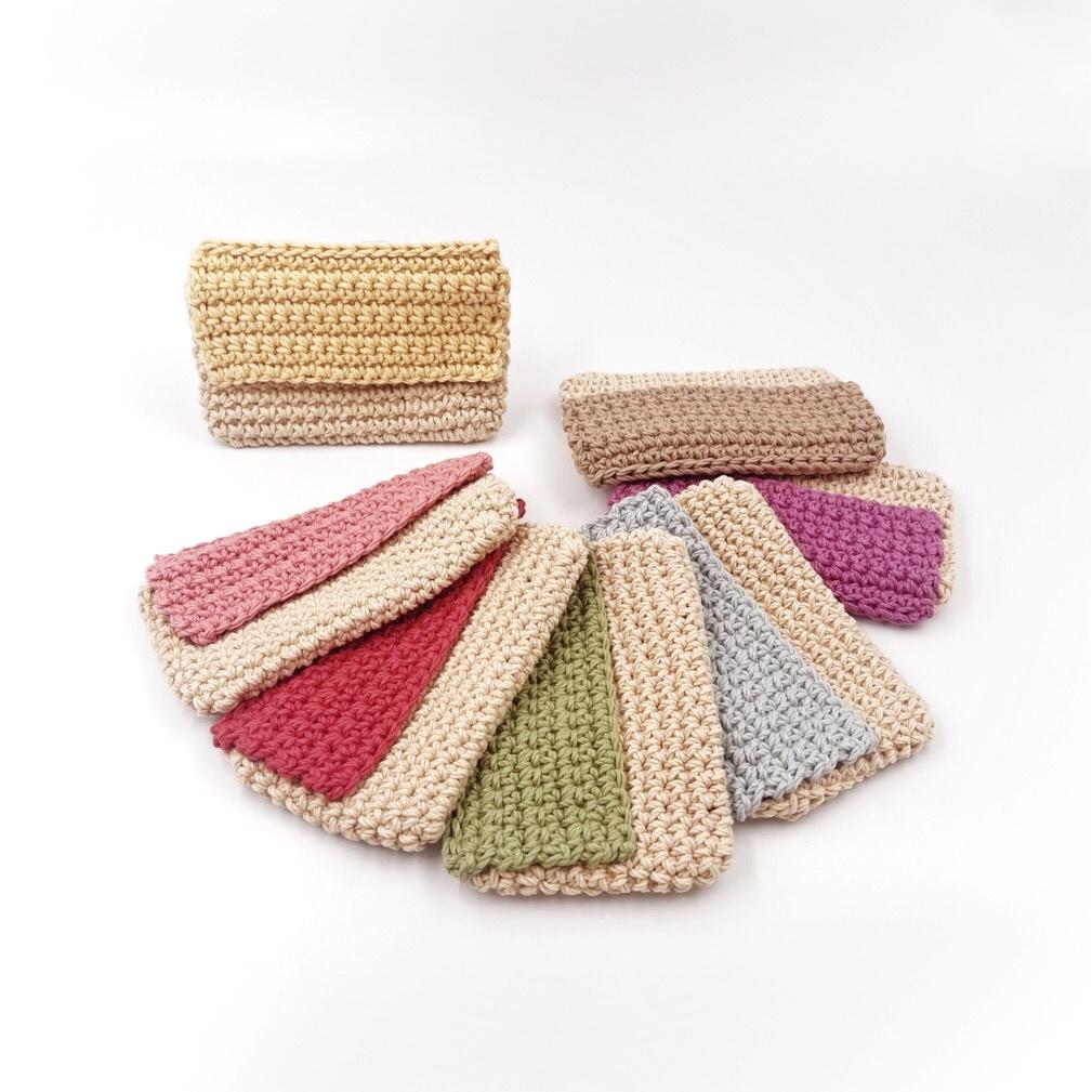 手編み雑貨 HanahanD はなはんど スマホケース スマホ保護 洗えるケース ポーチ