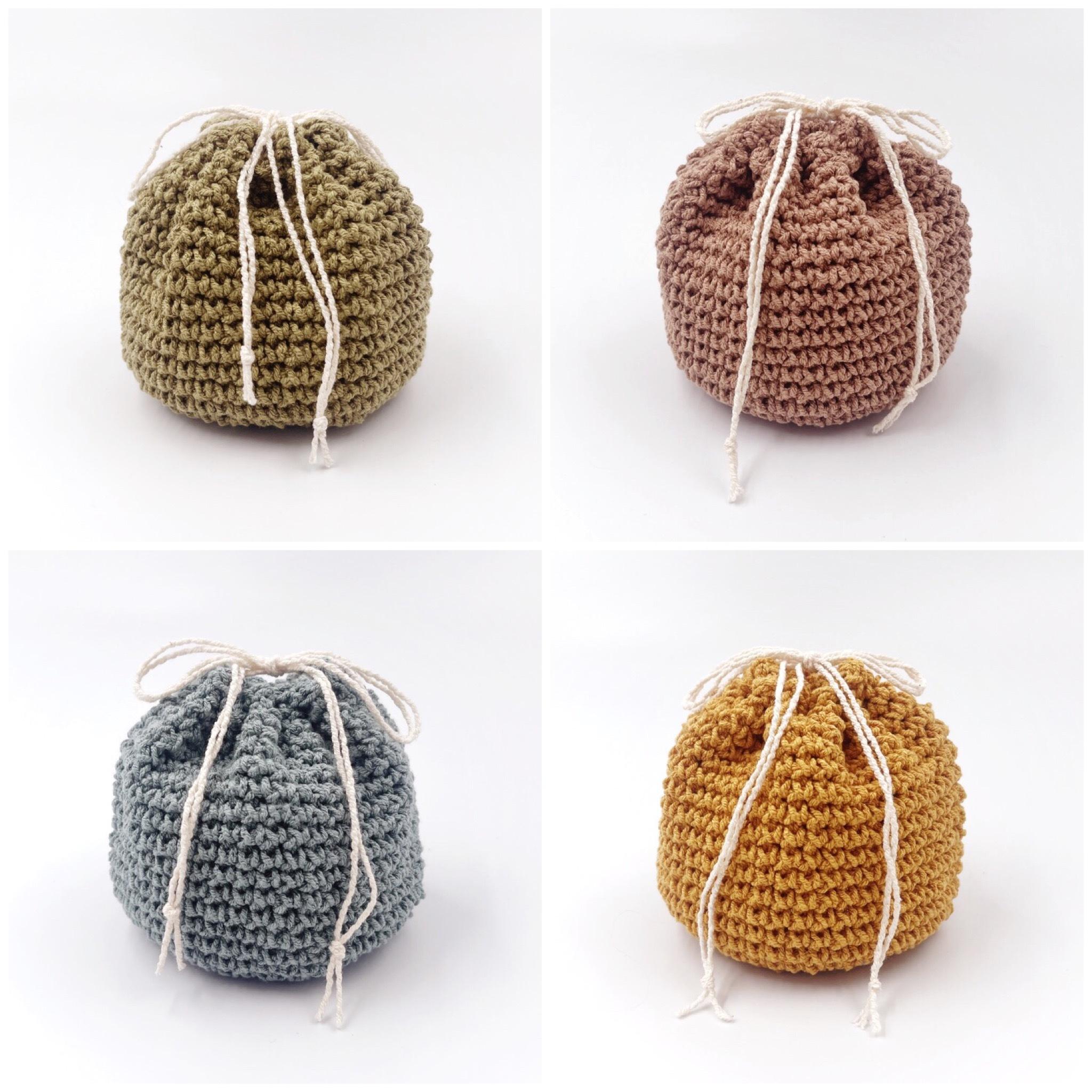 手編み雑貨 HanahanD 手編み 巾着 ハンドメイド はなはんど