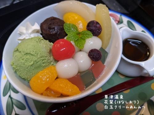 20210104草津温泉カフェ花栞(はなしおり)白玉クリームあんみつ