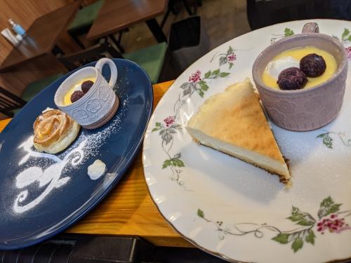 20210109草津温泉カフェ花栞(はなしおり)アップルパイ、チーズケーキ