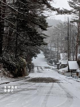20210217群馬県草津町、草津温泉・雪景色