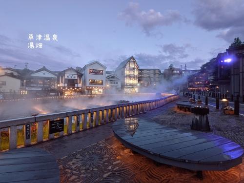 20210531群馬県草津町、草津温泉・雨上がりの湯畑5