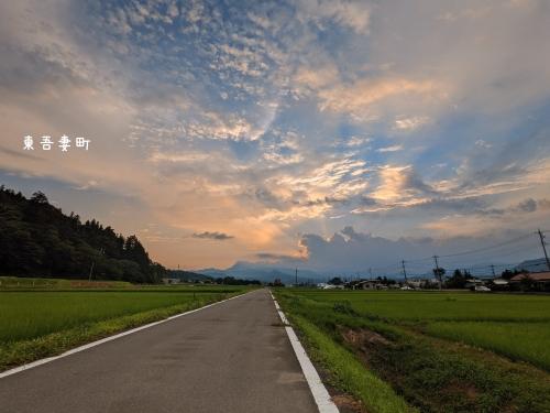 20210721群馬県東吾妻町、夕焼け空