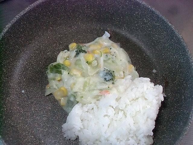 冷や飯と野菜スープ