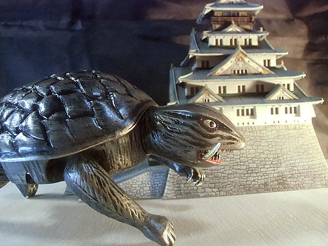 昭和のガメラと城