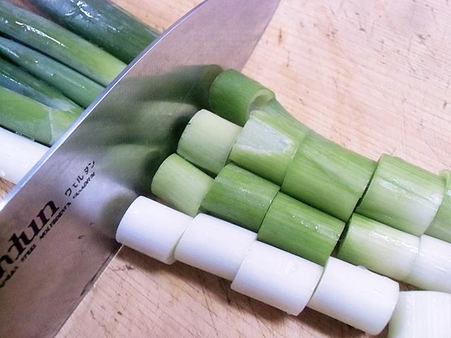 葱のブツ切り