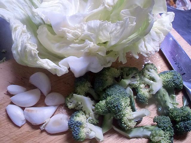 ニンニクと野菜