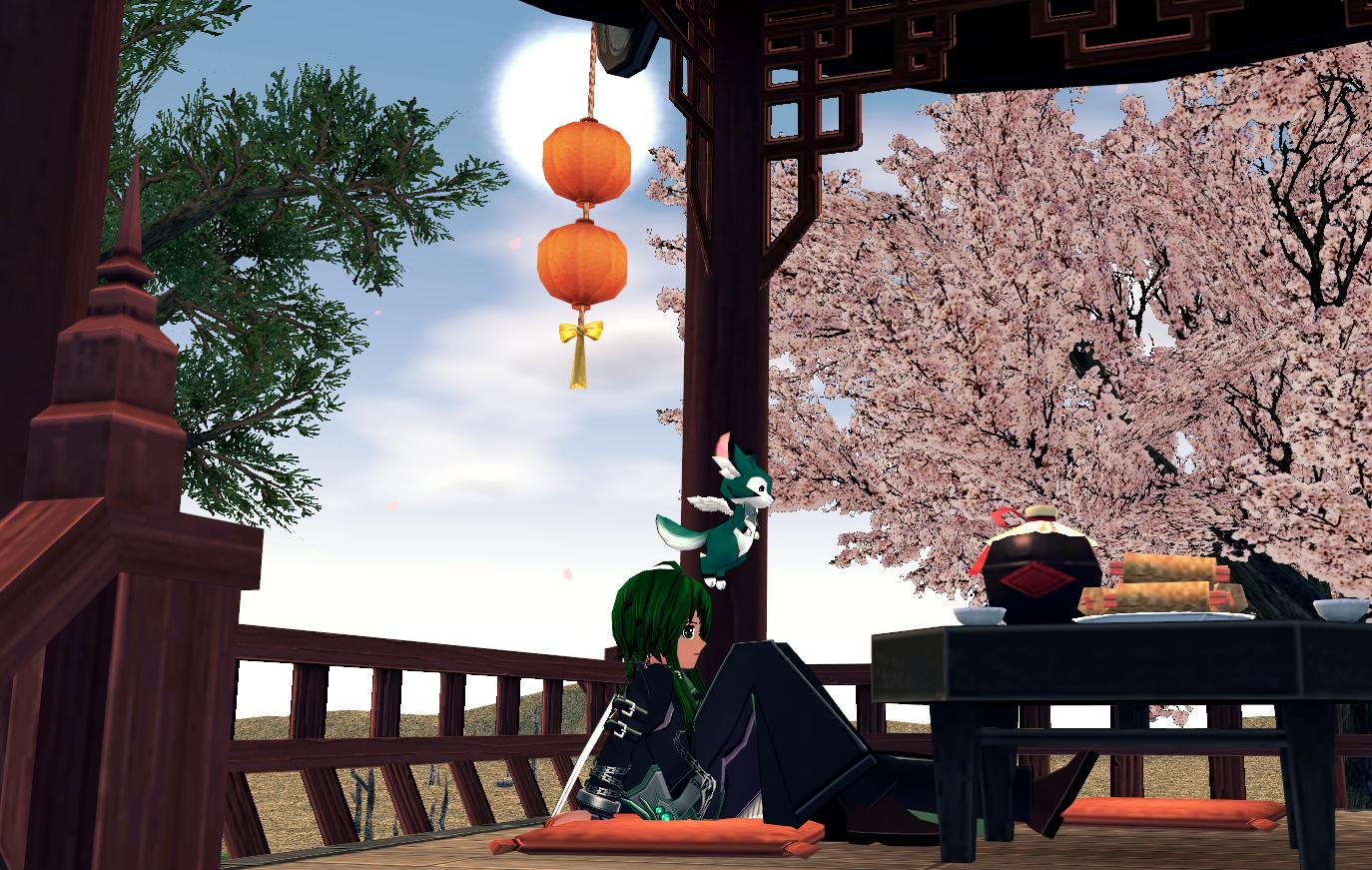 桜の休憩所