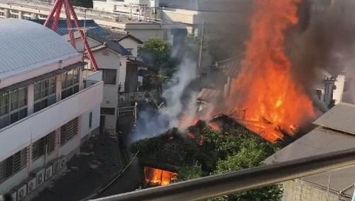 広島県呉市 火事