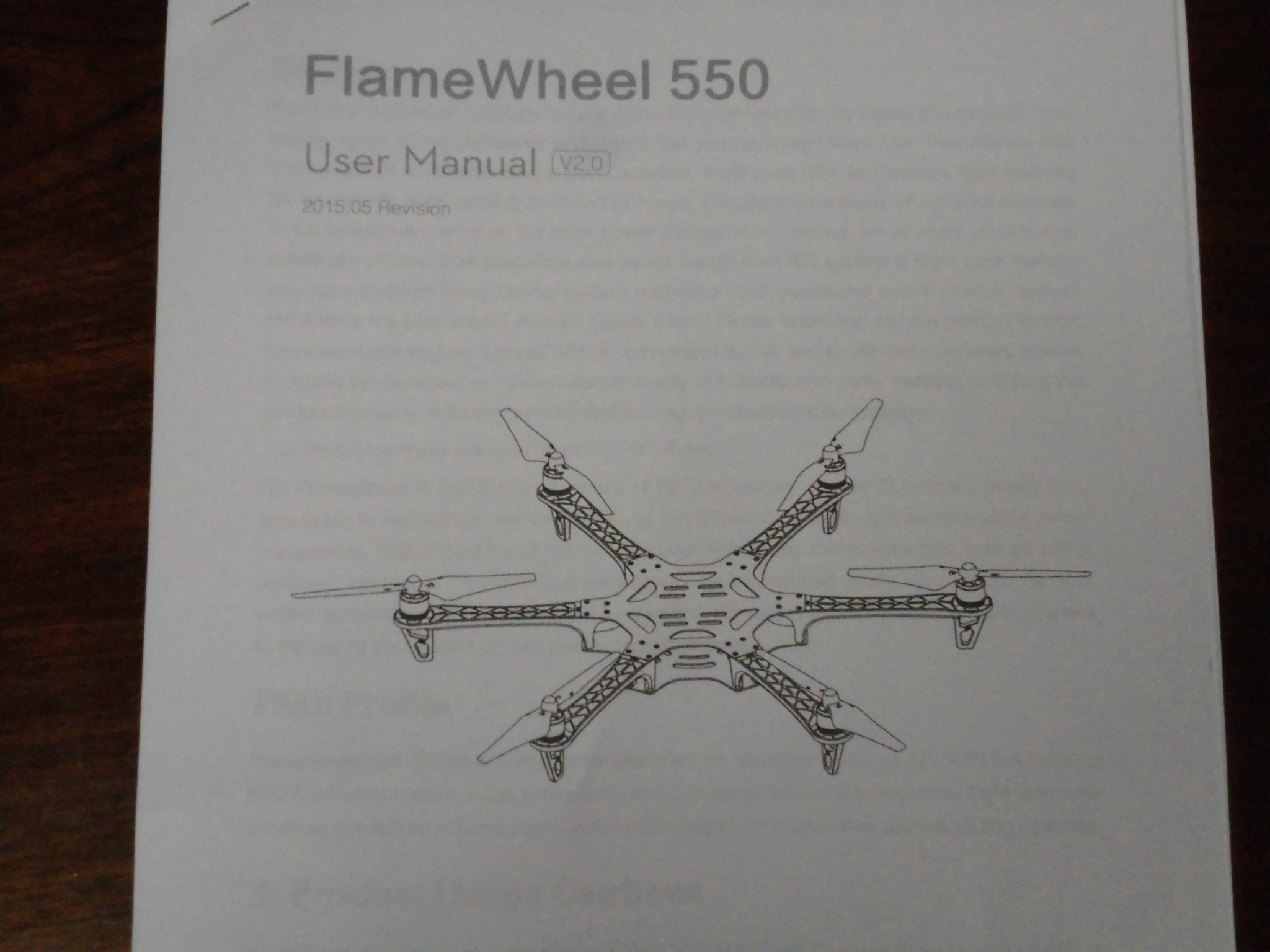 ドローンF550製作2