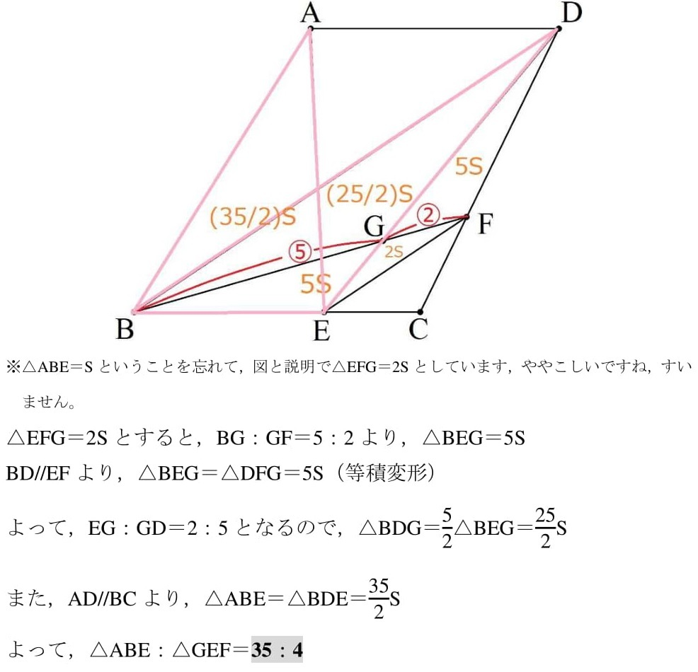 2021 広島県 高校入試 数学 等積変形 難問 良問