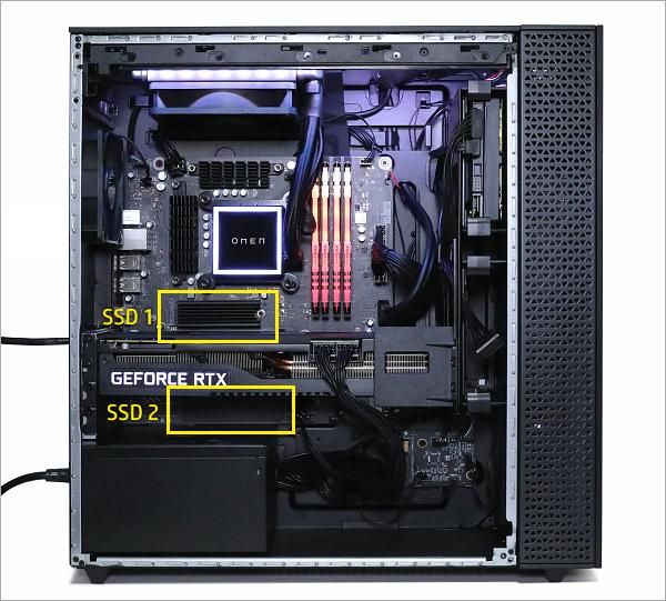 OMEN by HP 30L Desktop_RTX 3090_内部_M2 SSDスロット