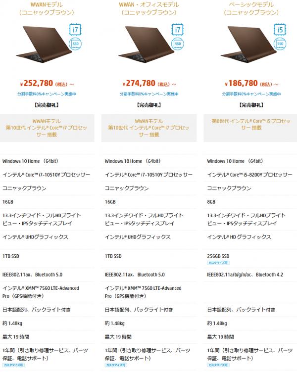 スクリーンショット_HP Spectre Folio 13-ak1000 シリーズ『WWANモデル』_210317