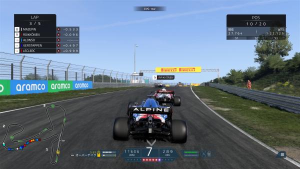 F1 2021 ベンチマーク時の動作温度・消費電力を測定