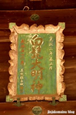 野田白髭神社  入間市野田7
